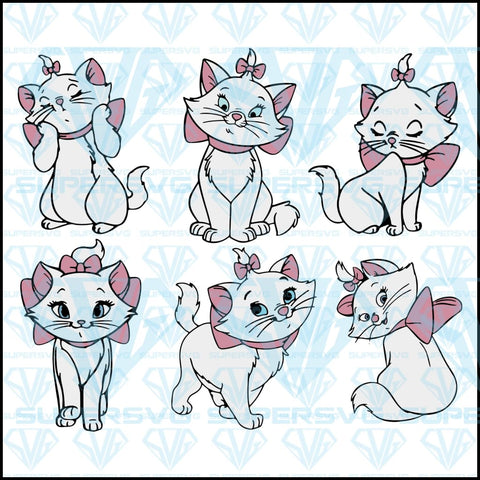 Marie, Aristrocats Bundle, svg, png, dxf, eps file