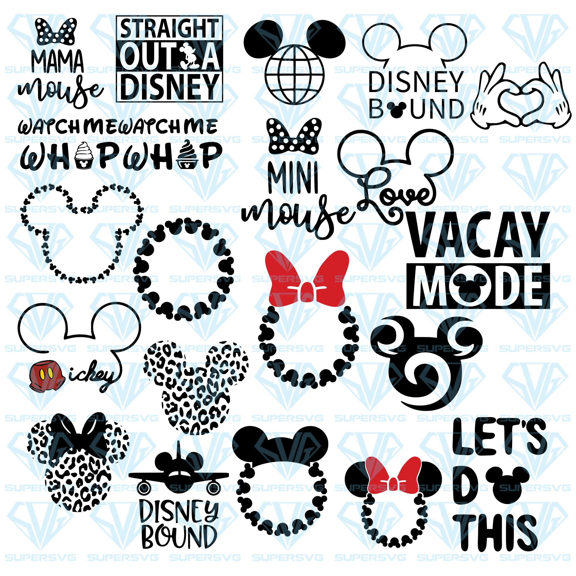 Disney Vacation, Straight Outta Disney, Disney Monogram Bundle, svg, png, dxf, eps file