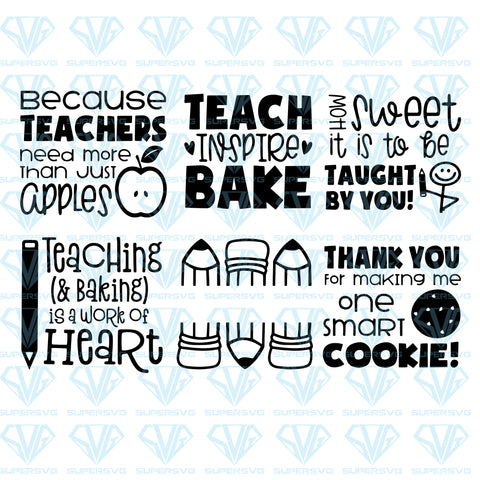 Teacher Thank You Oven Mitt Designs Bundle, svg, png, dxf, eps file