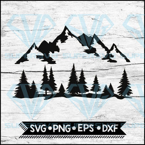 Mountain and Forest, Camping, Hunting, Hiking, Outdoors, Camping Svg, Cricut File, Svg