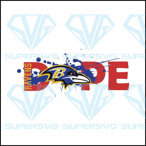NFL Football DOPE, Baltimore Ravens Svg, Cricut File, Football Svg