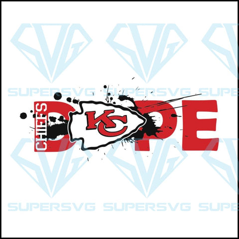NFL Football DOPE, Kansas City Chiefs Svg, Cricut File, Football Svg