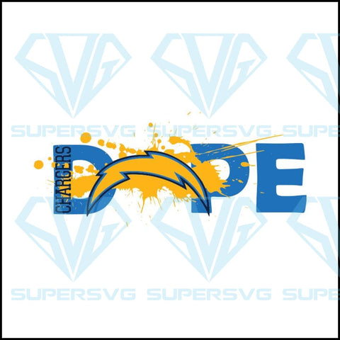 NFL Football DOPE, Los Angeles Chargers Svg, Cricut File, Football Svg