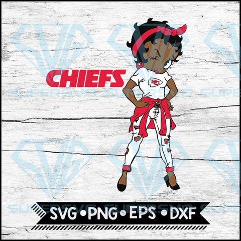 NFL Logo Girl Svg, Kansas City Chiefs Svg, NFL Svg, Football Svg, Cricut File, Svg