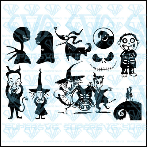 Nightmare Before Christmas Bundle, svg, png, dxf, eps file