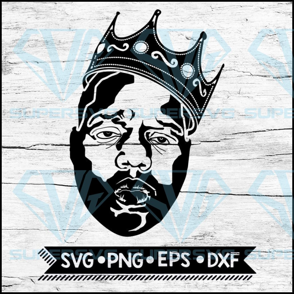 Notorious Big Crown Svg, biggie face svg file, notorious big crown svg, biggie poppa crown svg, biggie poppa crown png