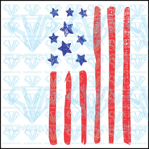 Patriotic Red White Blue Stars Stripes US Flag 4th of July, svg, png, dxf, eps file