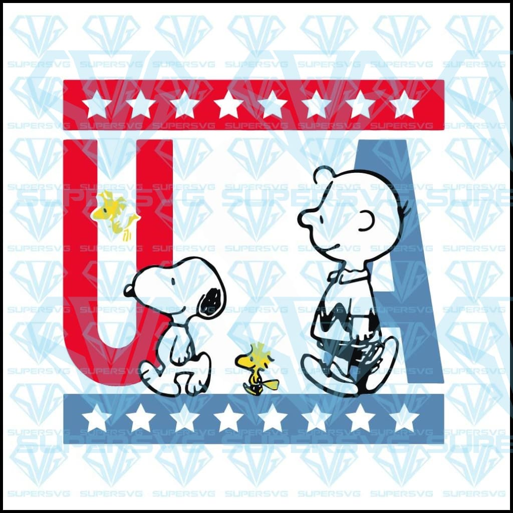 Peanuts Snoopy Americana Red White And Blue, svg, png, dxf, eps file