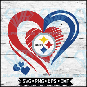 Pittsburgh Steelers Love Svg, Heart Pittsburgh Steelers Svg, NFL Svg, Football Svg, Cricut File, Svg