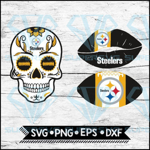 Pittsburgh Steelers Svg, NFL Svg, Bundle, Svg, Cricut File, Football Svg, Skull Svg