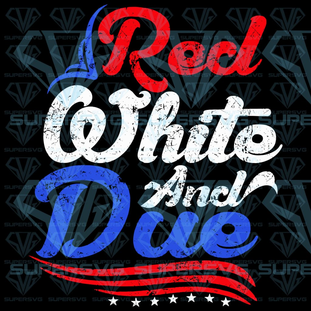 Red White and Due, svg, png, dxf, eps file