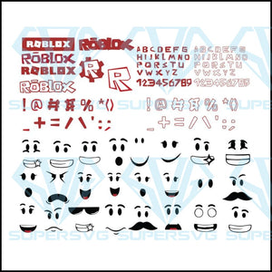 Roblox Alphabet Svg, Cricut File, Gamer Svg, Roblox Svg, Roblox Face Svg
