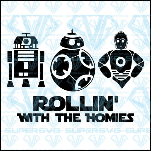 Rollin' With The Homies, svg, png, dxf, eps file