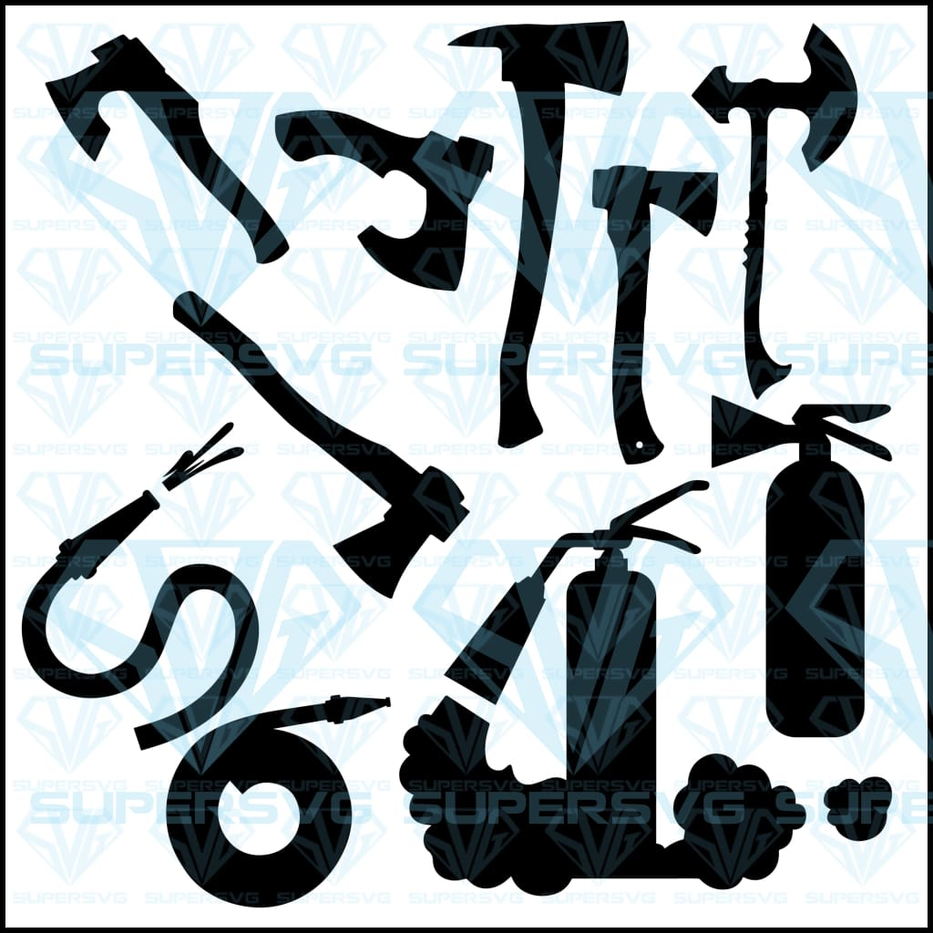 Set Silhouettes Axes Black Silhouette Axes, svg, png, dxf, eps file