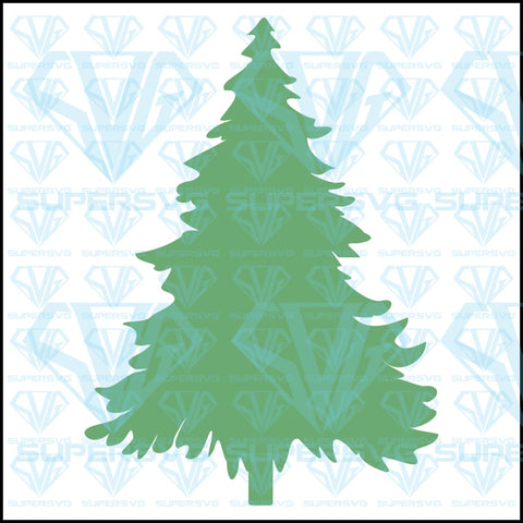 Simple Christmas Tree, svg, png, dxf, eps file