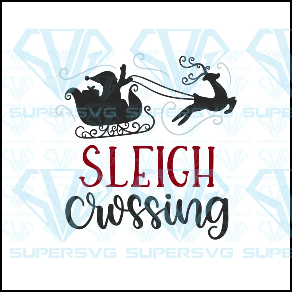 Sleigh Crossing Svg Files For Silhouette Cricut Dxf Eps Png Instant Download