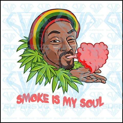 Snoop Dogg, Smoke is my soul, weed, pink heart smoke vector, svg, png, dxf, eps file