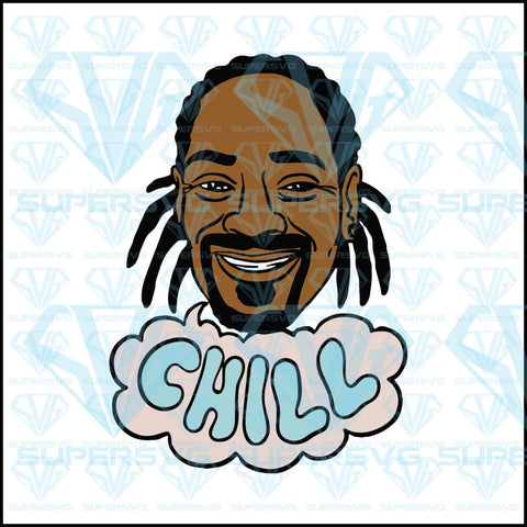 Snoop dogg chill, smiling, snoop dogg face, svg, png, dxf, eps file