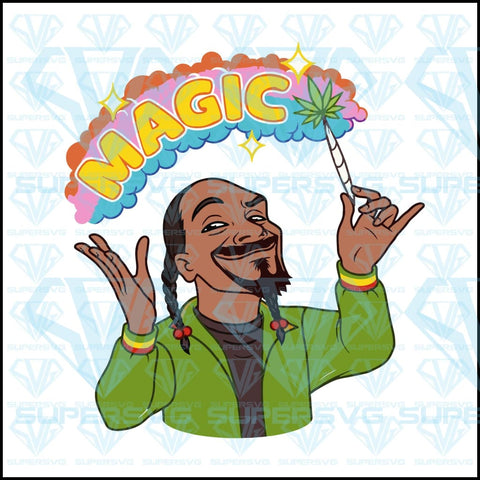 Snoop Dogg magic, funny, vector, weed, svg, png, dxf, eps file