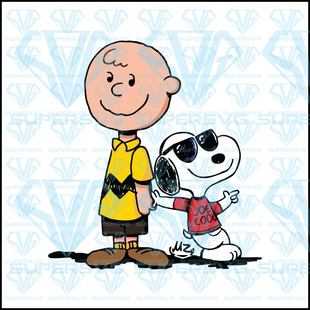 Snoopy And Charlie Brown, svg, png, dxf, eps file