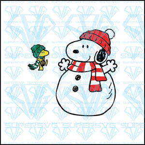 Snoopy And Woodstock Christmas Funny, svg, png, dxf, eps file