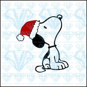 Snoopy Christmas, svg, png, dxf, eps file