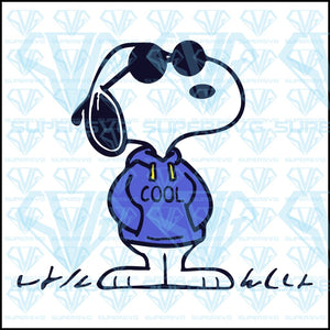 Snoopy Cool, svg, png, dxf, eps file
