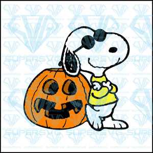 Snoopy Halloween, svg, png, dxf, eps file