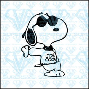 Snoopy Joe Cool The Peanuts, svg, png, dxf, eps file