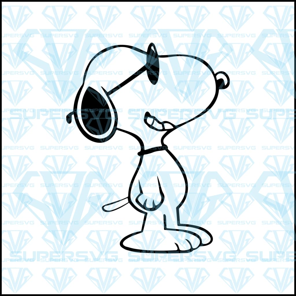 Snoopy wears glass, svg, png, dxf, eps file