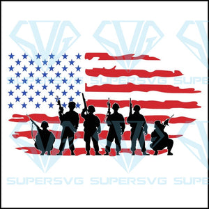 Soldiers With American Flag, 4th of july svg ,4th of july shirt,independence day,american flag,USA patriotism, happy 4th of july svg,independence day svg, patriotic day svg,