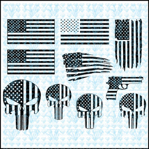 Special American Flag Bundle Svg Files For Silhouette Cricut Dxf Eps Png Instant Download