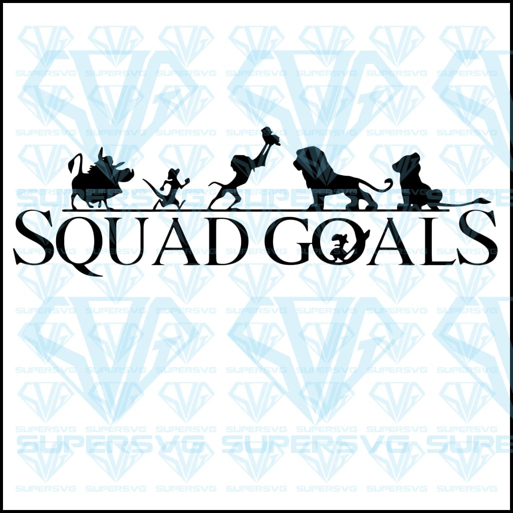 Squad Goals lion king, svg, png, dxf, eps file