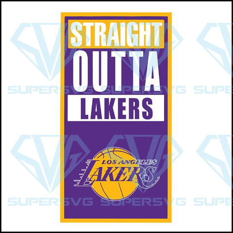 Straight outta lakers svg, Los Angeles Lakers svg, Lakers svg