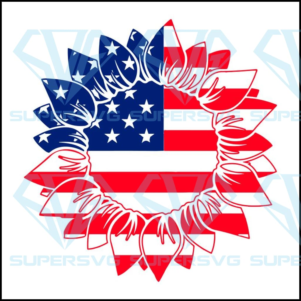 Sunflower american flag, sunflower svg, sunflower shirt, american flag,4th of july,independence day,american flag,USA patriotism, happy 4th of july svg,independence day svg,patriotic svg,