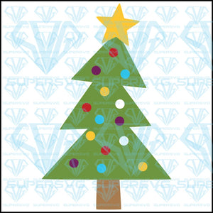 Christmas Tree – Triangles, svg, png, dxf, eps file