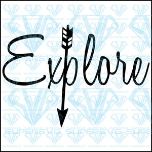 Explore with Arrows, svg, png, dxf, eps file
