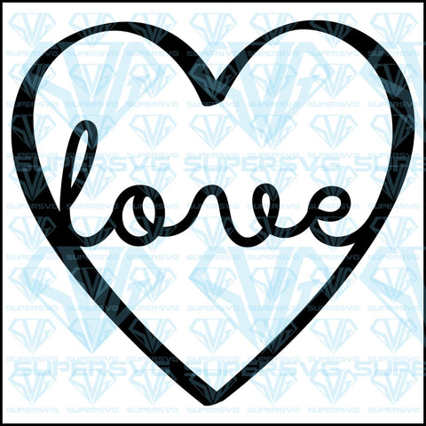 Love Heart, svg, png, dxf, eps file