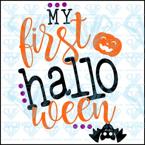 My First Halloween, svg, png, dxf, eps file