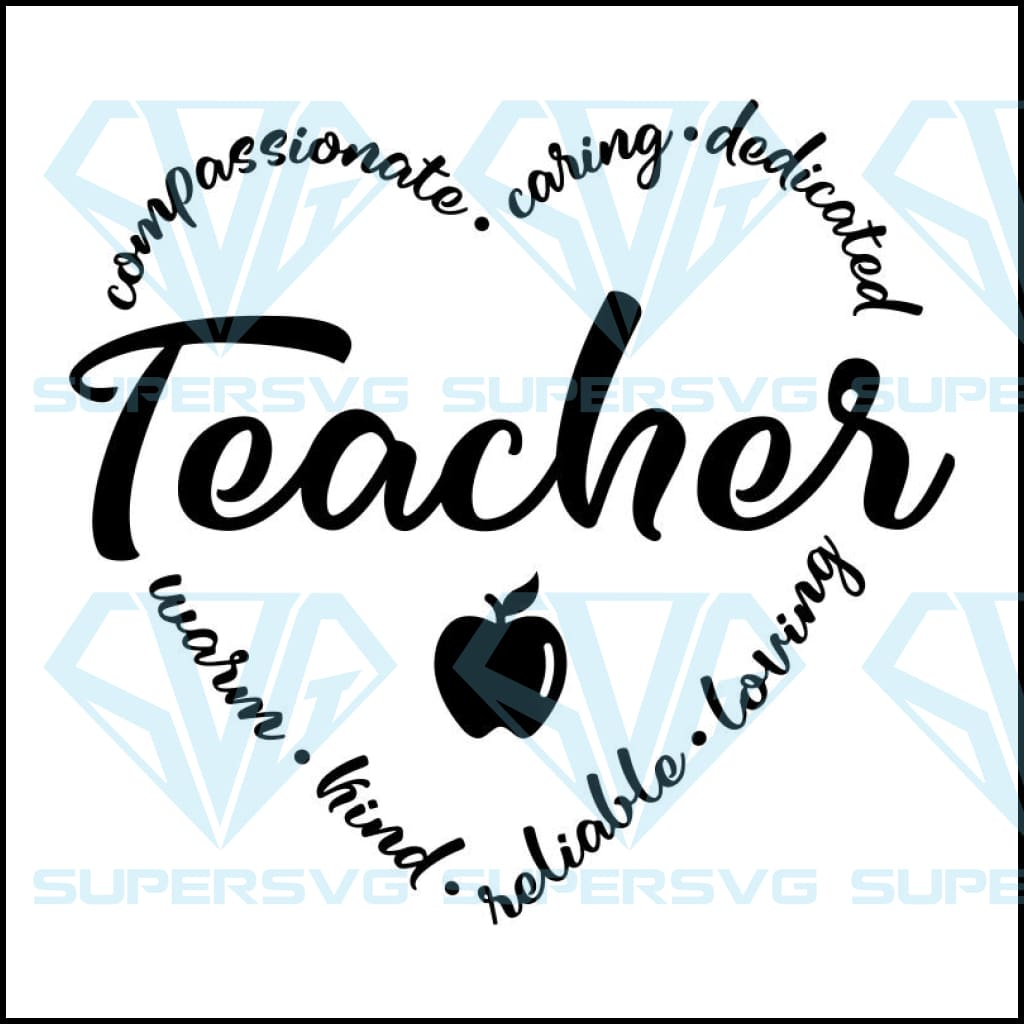 Teacher appreciation svg, teacher svg, teacher gift, gift for teacher,teacher word art, school svg, teacher day svg, heart shape, teacher word art, back to school svg, warm kind week,