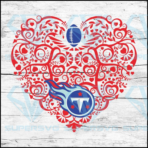 Tennessee Titans, Heart SVG, NFL Svg, Football Svg, Cricut File, Svg