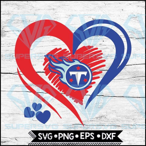 Tennessee Titans Love Svg, Heart Tennessee Titans Svg, NFL Svg, Football Svg, Cricut File, Svg