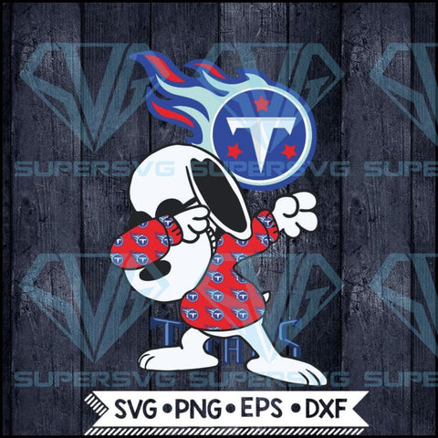 Tennessee Titans Snoopy Dabbing Svg, NFL Svg, Football Svg, Cricut File, Svg