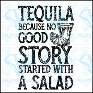 Tequila instead of salad story, svg, png, dxf, eps file