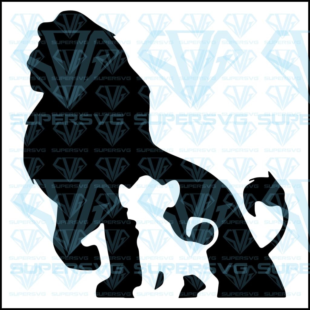 The lion king, svg, png, dxf, eps file