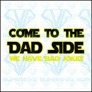 The Power Of Dad Side Svg Files For Silhouette Cricut Dxf Eps Png Instant Download
