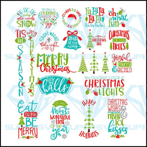 Tis the Season Christmas SVG, Xmas Bundle Files