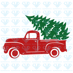 Truck Christmas Tree, svg, png, dxf, eps file