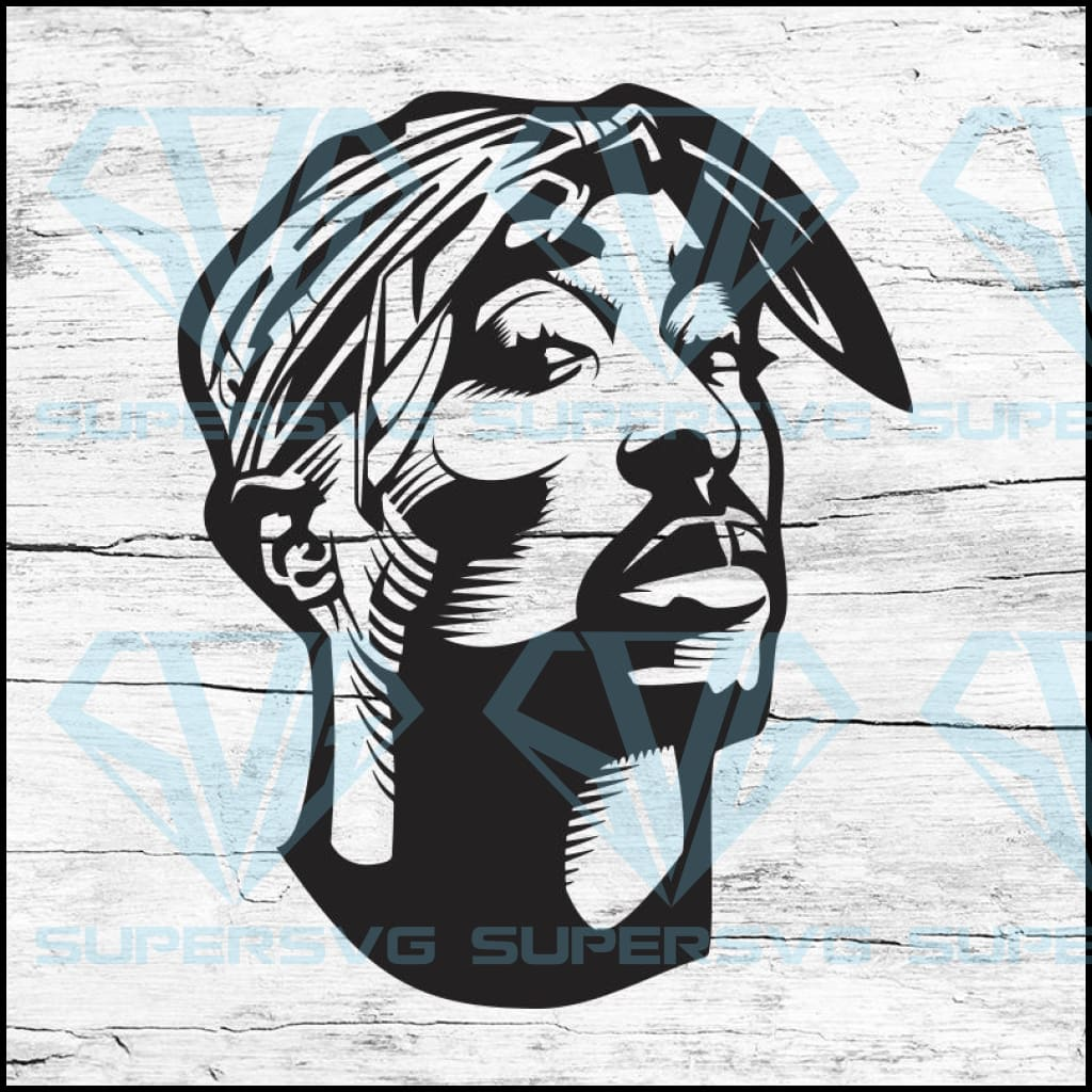 Tupac Shakur Portrait Svg, Cricut File, Svg, Halloween Svg