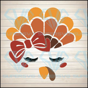 Turkey Face Svg, Turkey Face Clipart, Turkey Face